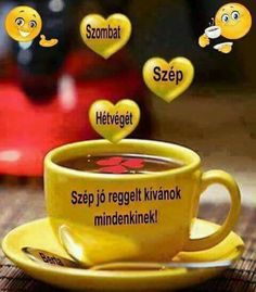 Szombat - Megaport Media Share Pictures, Chocolate Coffee, Good Morning Images, Vodka, Diy Crafts, Humor, Tableware, Frases, Pictures
