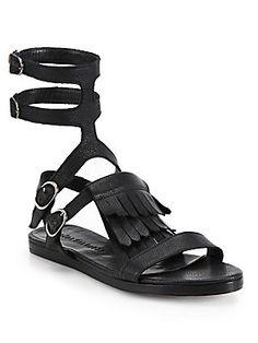 FREDA SALVADOR Fringed Gladiator Sandals