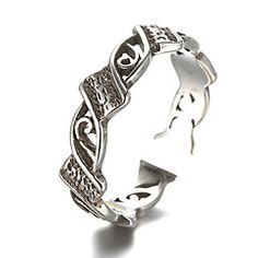 Antique+Silver+Vintage+Style+Flower+Open+Band+Midi+Ring+for+Men/Women+Jewelry+–+INR+Rs+176