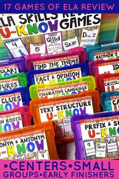 Fun and engaging ELA review games to use during literacy centers, early finishers, indoor recess and more!  Students will enjoy this test prep activity that reviews all the skills they need to know such as reading, figurative language, vocabulary, text structure, theme, fact & opinion, synonyms & antonyms and more!