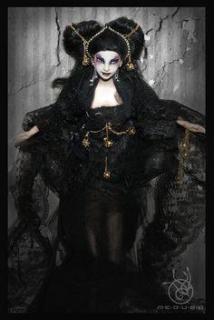 Repainted doll Pocahontas - Medusa the Dollmaker