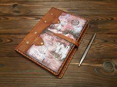 Genuine Leather Daily Planner A5 Brown Art Journal Leather Pocket Secret Book #MakeyStudio