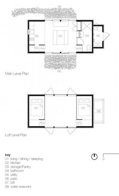 Modern tiny house interior floor plan.