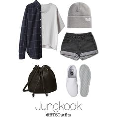 Theater with Jungkook by btsoutfits on Polyvore featuring mode, PèPè, Vans, Wild Pair, Our Legacy and WeSC