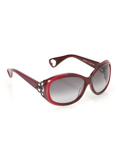 Take a look at this Rose Flutter Eyes Sunglasses by Betsey Johnson on #zulily today!