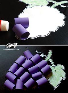 Grapes - cut and glue