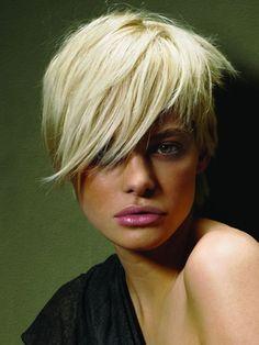 Gorgeous short glossy hair