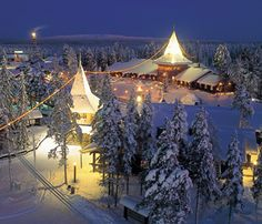 Doubt we will ever actually make it here but how cool is this? Santa Claus's official hometown Rovaniemi, finland. Visit the christmas house, santa's home and Santa Park A fantasy world built inside a series of underground caves. where you can see Santa's elves hard at work.