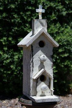 Vintage House Church Birdhouse Antique Style Birdhouse Functional Birdhouse | eBay
