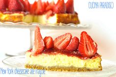 New York cheesecake alle fragole #cheesecake #original #strawberry #fragole #originale