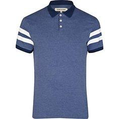 Men's varsity stripe sleeve polo shirt #riverisland
