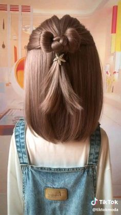 short girl hairstyles for kids toddler hair Braided Bun Hairstyles, Baby Girl Hairstyles, Cute Little Girl Hairstyles, Heart Hairstyles, Headband Hairstyles, Girl Hair Dos, Cute Girl Hair, Small Hair Style Girl, Toddler Girl Hair