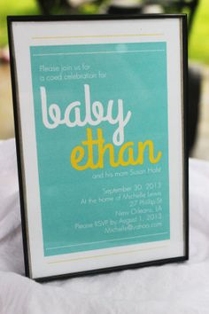Printable, custom Dots and Lines Baby Shower or Gender Reveal invitation by FriedGreenDesign, $20.00