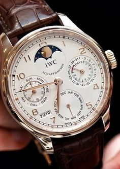 Among the vast array of high-end watch brand names, the major ones are Longines, Omega, TAG Heuer, Rado and others. They generate the most effective quality watches which amuses its… Iwc Watches, Sport Watches, Cool Watches, Latest Watches, Patek Philippe, Audemars Piguet, Moonphase Watch, Gentleman Watch, Rolex