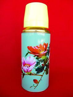 Vintage Thermos - Coffee Thermos - Cup Thermos - Flower Thermos - Picnic Thermos - Tea Thermos - Travel Thermos 20oz/0.62lt SUNFLOWER  Nr34. $18.90, via Etsy.