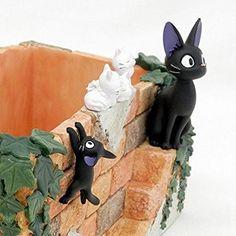 Cute Studio Ghibli Flower Pot and Pot Cover Coraline, Tim Burton, Clay Cats, Kiki's Delivery Service, Studio Ghibli Art, Anime Figurines, Clay Projects, Totoro, Art Inspo