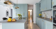 A nutritional therapist's dream kitchen - Sola Kitchens Oval Room Blue, Swedish Kitchen, Tongue And Groove Panelling, Green Kitchen Cabinets, Industrial Style Lighting, Living Styles, Kitchen Styling, Kitchen Living, House Styles