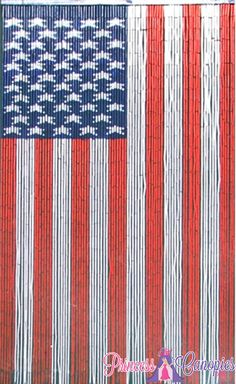 American Flag Curtains, American Flag Painted Bamboo Bead Curtain, Door  Beads American Flag,