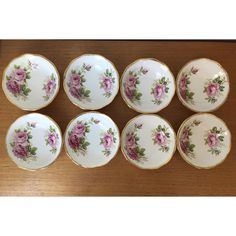"Vintage Royal Albert ""American Beauty"" Bowls, Small Dessert Bowls,... ($80) ❤ liked on Polyvore featuring home, kitchen & dining, sauce bowl, dipping sauce bowl, dipping sauce dish, royal albert and sauce dish"