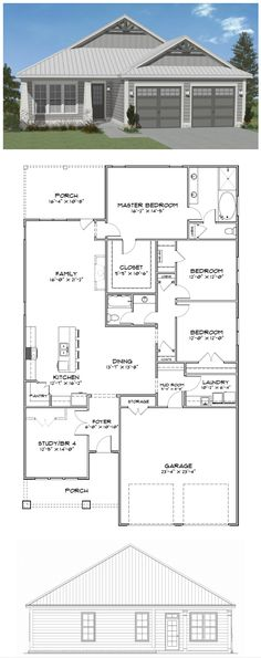 Plan SC-2150: ($750) 4 bedroom 2 bath home with 2150 heated square feet. This design is available for purchase online along with many others at stevecoxinc.net. Contact us today to modify this plan.