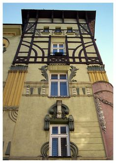 Frog House (Polish: kamienica Pod Żabami) is an example of art nouveau architecture in the city of Bielsko, Biała-Poland ✿