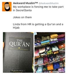 """The perfect way to give dawah during christmas! by @awkwardmuslim"" Lool"