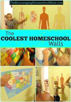 THE COOLEST HOMESCHOOL WALLS!