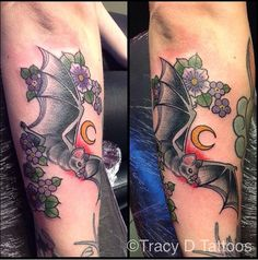 Bat and flowers by Tracy D, London