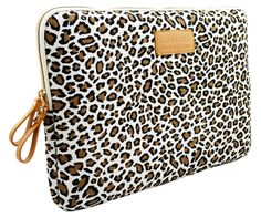 Kayond®Cute Leopard's Spots Style Canvas Fabric Ultraportable Neoprene 14 Inch Laptop / Notebook Computer / MacBook / MacBook Pro / MacBook Air Sleeve Case Bag Cover: Computers & Accessories $11.99