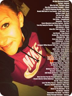 List of songs I work out to, some have personal motivation, but most are upbeat, kick butt jams : )