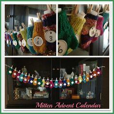 mitten advent calendar| A Delightful Design: Christmas Decorating 101