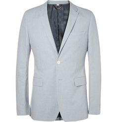 Burberry London Slim-Fit Cotton and Linen-Blend Suit Jacket...