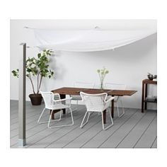 IKEA - DYNING, Canopy, The fabric gives very good protection against the sun's UV rays as it has a UPF (Ultraviolet Protection Factor) rating of 25+, which means it blocks 96% of the ultraviolet radiation.Easy to keep clean and fresh as the fabric can be machine-washed.
