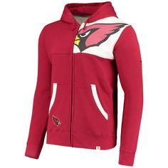 Men's Arizona Cardinals NFL Pro Line by Fanatics Branded Cardinal/Black Iconic Bold Full-Zip Hoodie