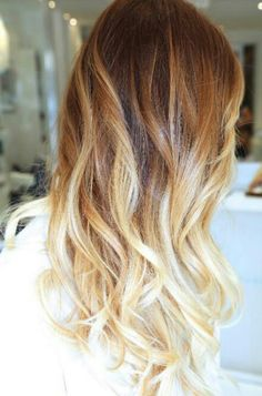 Blond ombre...I know its a little late to jump on the ombre wagon- but I really like this!
