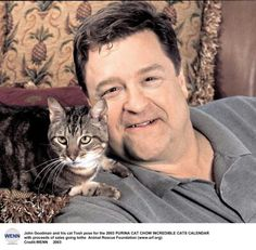 John Goodman w his cat, Tosh
