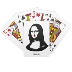 Transparent Pop Art Mona Lisa Playing Cards