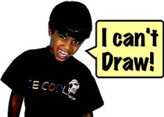 """Video and activity to discourage kids who say they can't draw elementary art education """"I can't"""" funeral"""