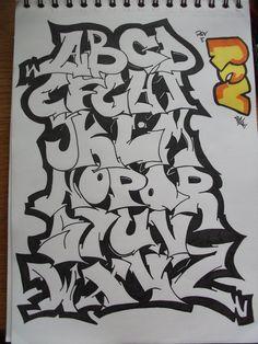 Graffiti Alphabet by ~replicamask on deviantART