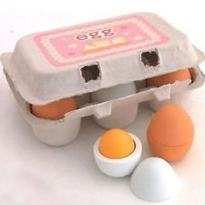 DecentGadget 6 Wooden Play Eggs in Carton Pretend Play Pre-school Educational Toy Kitchen Food Toy by DecentGadget. DecentGadget 6 Wooden Play Eggs in Carton Pretend Play Pre-school Educational Toy Kitchen Food Toy. Play Kitchens, Play Kitchen Food, Kitchen Games, Pretend Play Kitchen, Funny Kitchen, Toy Kitchen Set, Pretend Food, Toys For Girls, Kids Toys
