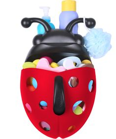 Stay organized at bath time with this fun ladybug!!