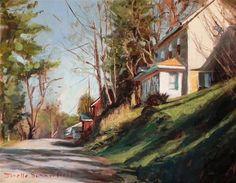 "Daily Paintworks - ""Indiana County Landscape"" - Original Fine Art for Sale - © Jonelle Summerfield"
