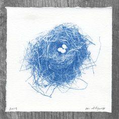 Nest & Eggs Cyanotype No. 222