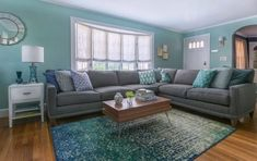 Avoiding Decorating Mistakes: A Design Pro Shares Her Do& and Don& .Avoiding Decorating Mistakes: A Design Pro Shares Her Do& and Don& .Home Wall Ideas Paint Colors For Living Room, Living Room Grey, Living Room Carpet, Living Room Modern, Living Room Interior, Rugs In Living Room, Living Room Decor, Small Living, Aqua Living Rooms