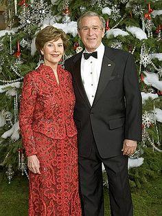 Oscar de la Renta  George W. Bush & Laura Bush