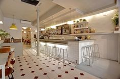 restaurantes nórdicos bohemios en españa Restaurante Clarita Madrid decoración nórdica locales comerciales decoración interiores nórdicos ...