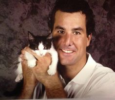 Marty Turco and a cat