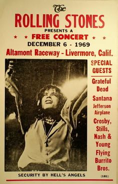 The Altamont Speedway lacked proper barriers, security personnel, and many other things that would have been required to contain the fervent crowd ...