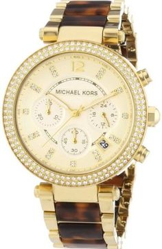Michael Kors Parker Tortoise Watch Sold at http://cicifashionistacloset.com