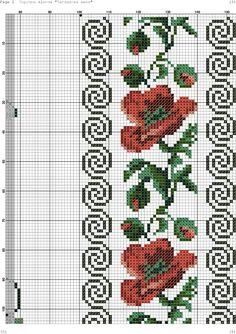 Foto 123 Cross Stitch, Cross Stitch Bird, Beaded Cross Stitch, Cross Stitch Borders, Cross Stitch Flowers, Cross Stitch Charts, Cross Stitch Designs, Cross Stitching, Cross Stitch Embroidery